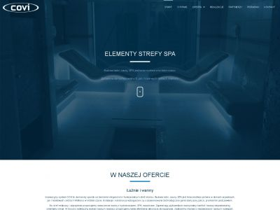 Strona www dla firmy z branży SPA