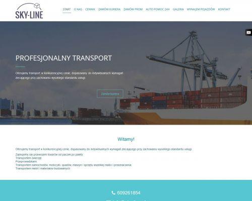 Strona www dla firmy transportowej