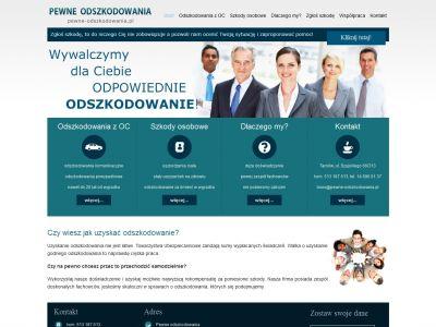 Strona www z branży odszkodowań
