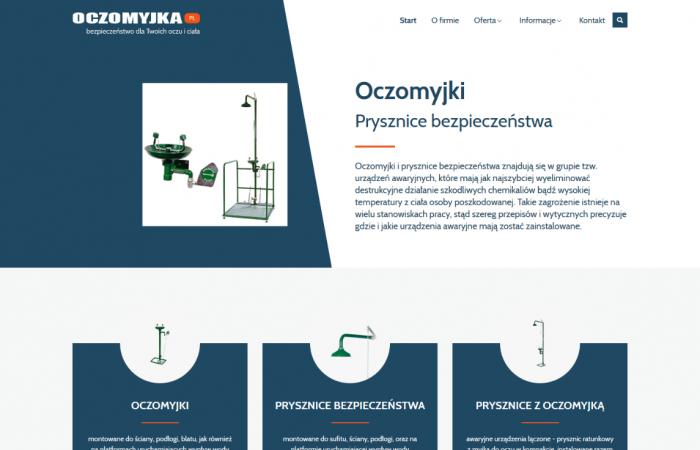 Strona www promująca oczomyjki