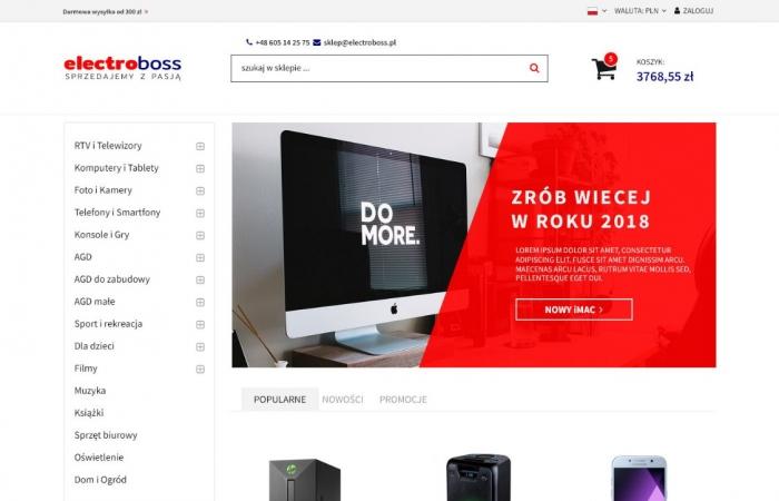Elektroniczny sklep internetowy