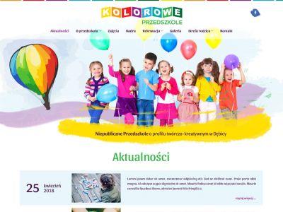 Responsywna strona internetowa dla przedszkola